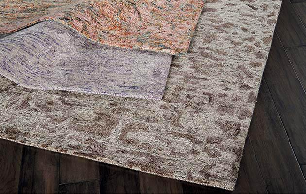 Textured area rug roomscene