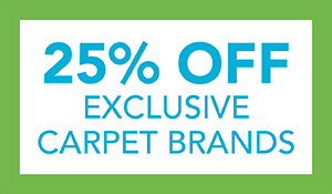 25% off exclusive carpet brands during our Spring Fling Sale. Sale ends 4/30/21