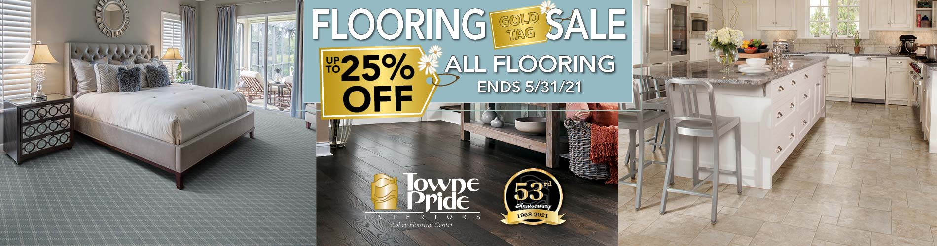 Take up to 25% off all flooring during our Gold Tag Flooring Sale